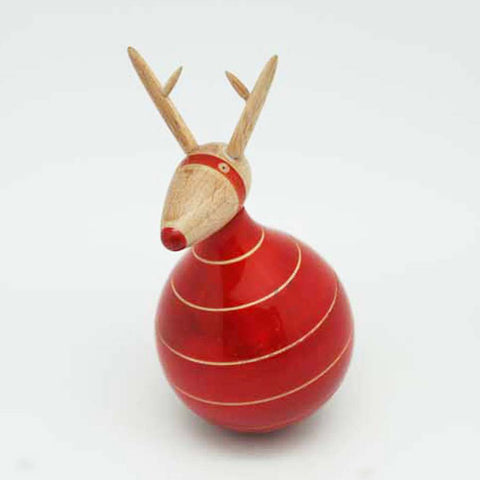 red wooden dancing rudolph