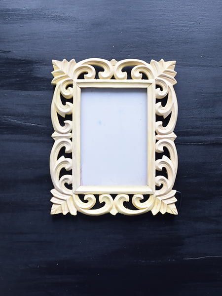 carved unfinished picture frame