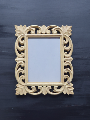 DIY Carved Wooden Frame - 24.5 cm x 30 cm