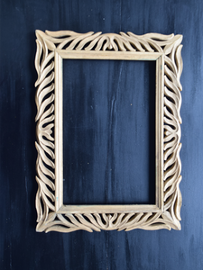 DIY Carved Wooden Frame - 36.5 cm x 49 cm
