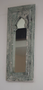 Rustic green and white distressed mirror