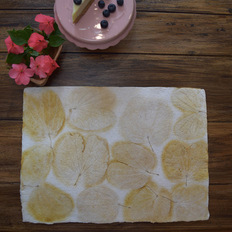 cream heartleaf imprint tablemat