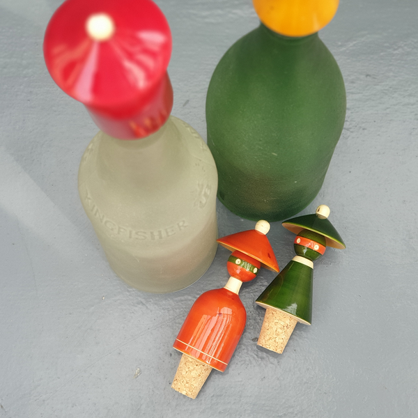 The Madhatters bottle stopper set (pair)