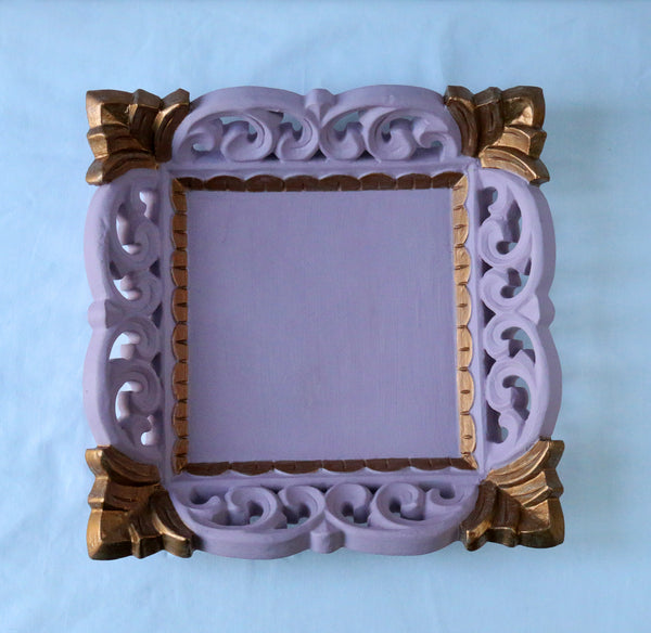 pink antique gold tray top view