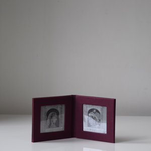 Purple Leaf Imprint Mini Photo Frame