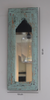 Rustic sea green distressed mirror with measurements
