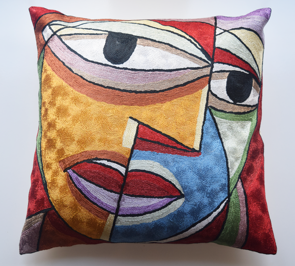 "Abstract 'The Kiss' cushion cover 18"" x 18"""