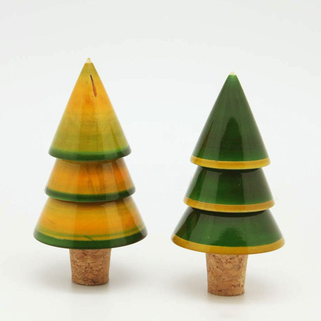 Set of Xmas Tree-shaped bottle stoppers
