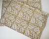 Mustard and brown block printed table mats (set of 4)- 48 cm x 33 cm