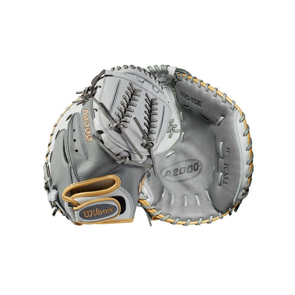"Wilson 2019 A2000 CM34 Superskin 34"" Softball Catchers Mitt 