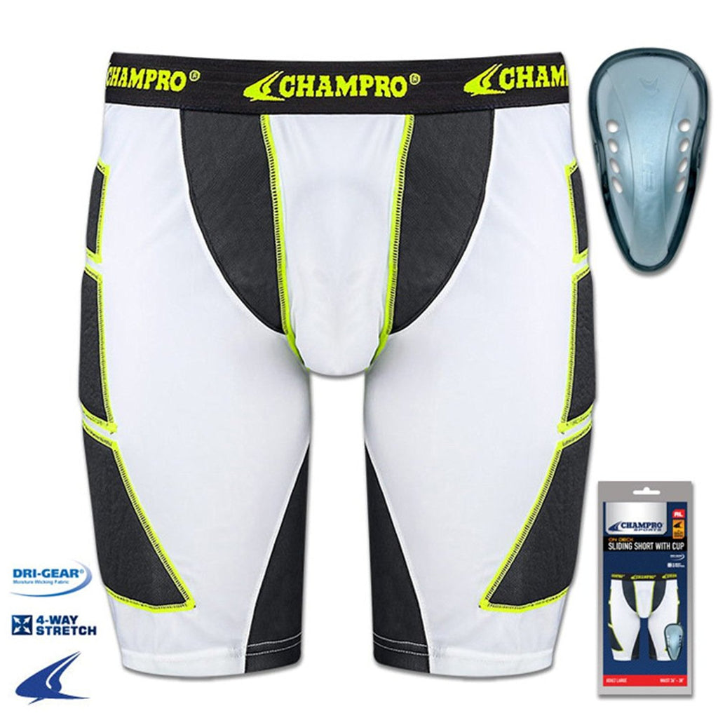Champro On Deck Sliding Short with Cup Adult | allstarptc.shop