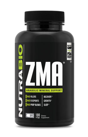 NutraBio Labs ZMA 180 Vegetable Capsules 60-90sv