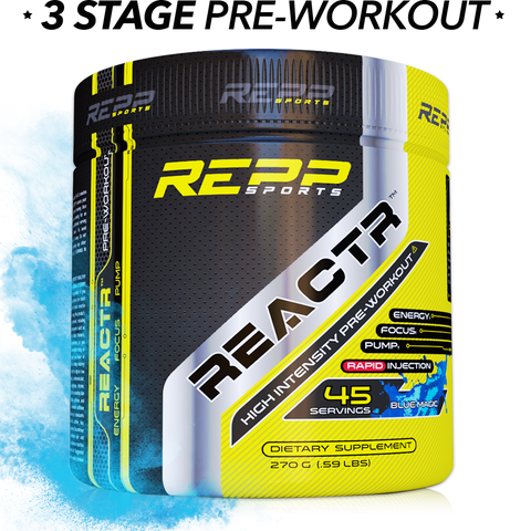 REPP Sports Reactr Pre-Workout 270g 45sv