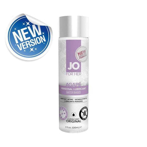 JO Agape Women 4.0 oz (120 ml) Glycerine Free - Limited Time Sale!! Personal Lubricant System JO: United Consortium Inc.