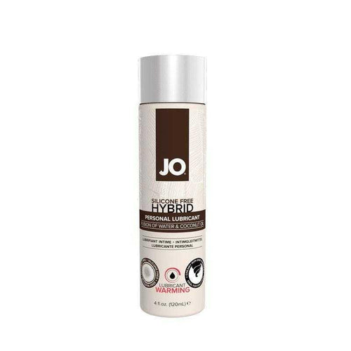 JO Silicone Free Hybrid Lubricant WARMING 4 oz (120 ml) - Coconut and Water Based Personal Lubricant System JO: United Consortium Inc.
