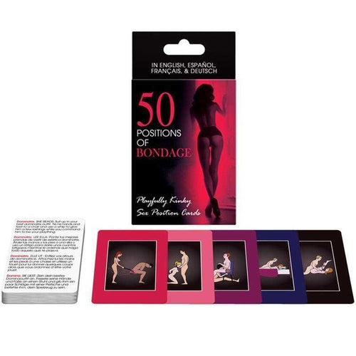 50 Positions of Bondage Card Game Adult Toys Khepher Games Inc
