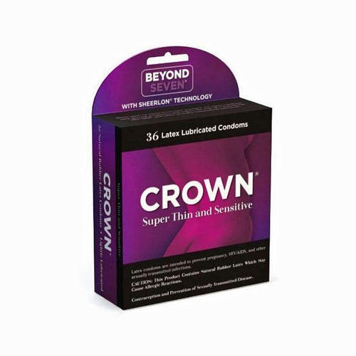Crown Super Thin & Sensitive Condoms - 36 pack Condoms Okamoto U.S.A