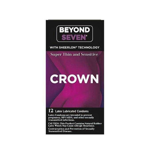 Crown Super Thin & Sensitive Condoms - 12 pack
