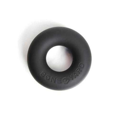 Bone Yard Ultimate Silicone Ring - Black | CheapLubes.com