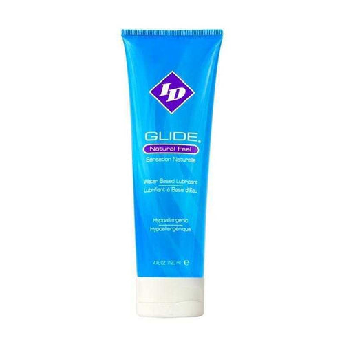 ID Glide - Natural Feel Water Based Lubricant Personal Lubricant Westridge Laboratories Inc 4 oz (120 mL) Squeeze Ube