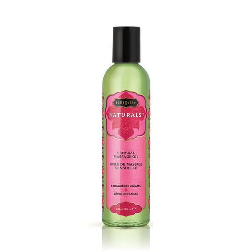 Kama Sutra Natural Massage Oils - Strawberry Dreams 8 oz (200 ml) Personal Lubricant The Kama Sutra Company