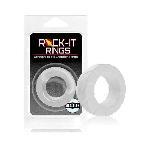 Rock-it Rings Fat Tire C-Ring - Clear | CheapLubes.com