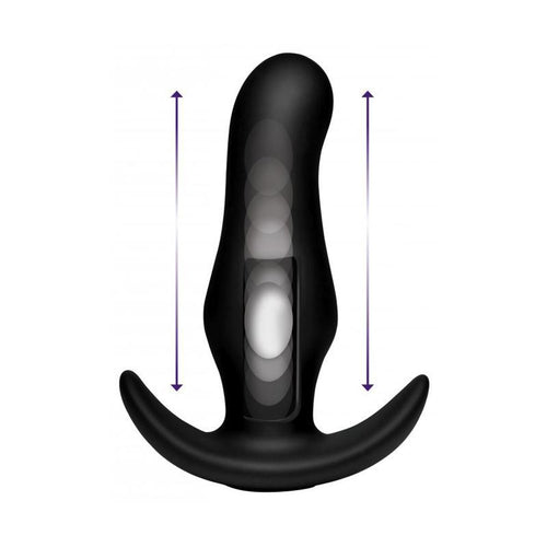 Thump-It Curved Thumping Anal Plug W/Remote Adult Toys XR Brand