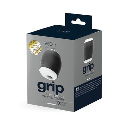 Vedo Grip Rechargeable Vibrating Sleeve - Rechargeable Masturbator Adult Toys VeDO Toys Ltd