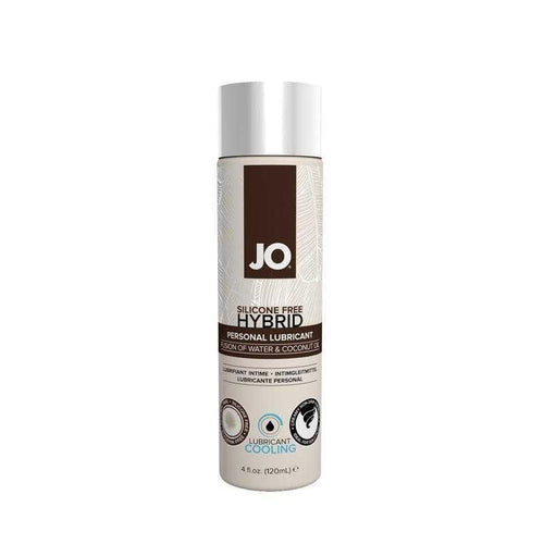 JO Silicone Free Hybrid Lubricant COOLING 4 oz (120 ml) - Coconut and Water Based Personal Lubricant System JO: United Consortium Inc.