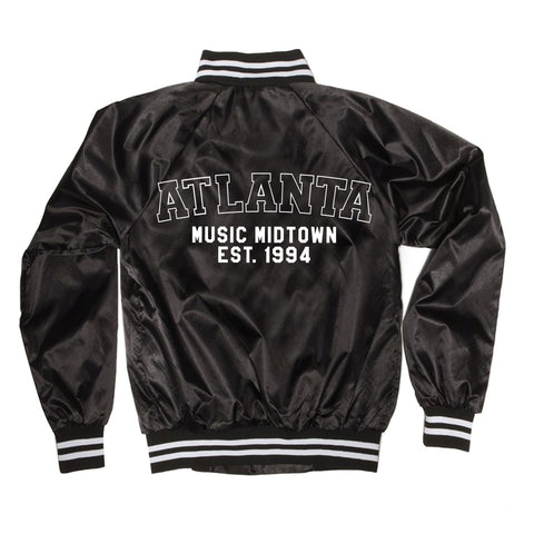 Atlanta Satin Bomber Jacket