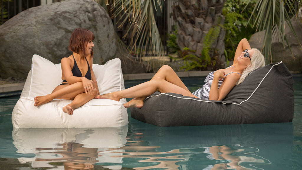 Santorini Lounger - luxury in outdoor patio furniture - floating bean bag chair