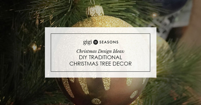 Christmas Design Ideas: DIY Traditional Christmas Tree Decor