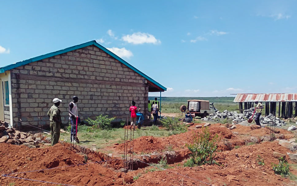 Gigi Cares Social Good Initiative - the construction of a new classroom began for the Morijo Primary School in Northern Kenya. Shop Small with the power to do social good.