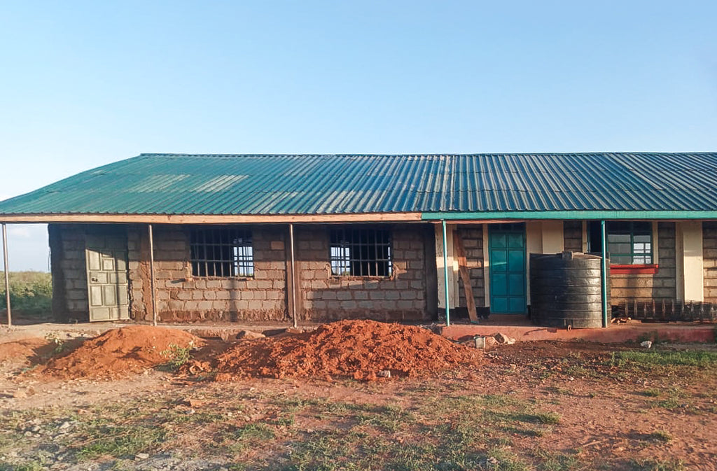 The Morijo Primary School's New Classroom is almost complete.