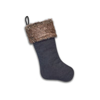 Dress Denim Stocking with Faux Fur Trim