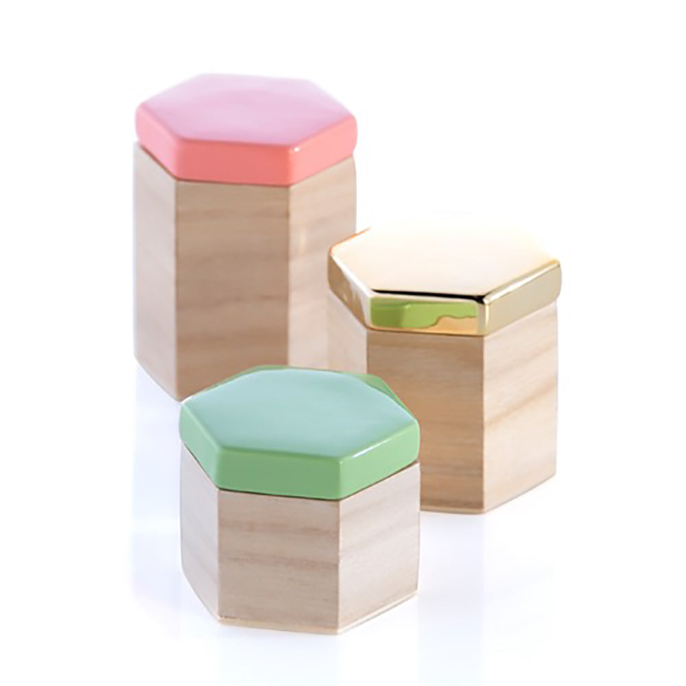 Hexagon Trinket Box - 3 Size Set