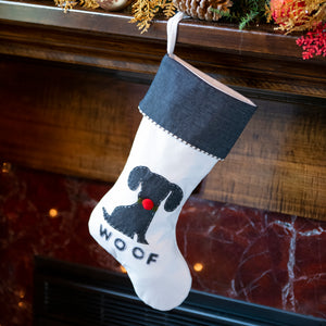 Our 'Woof' Stocking With Christmas Collar