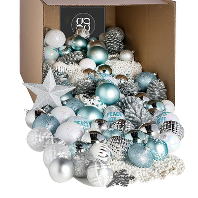 The Bougie Little Christmas Ornament Collection - 180 pieces/100 pieces
