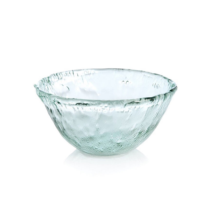 Large Rustic Glass Serving Bowl