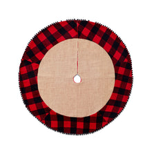 Jute Tree Skirt With Cabin Blanket Trim