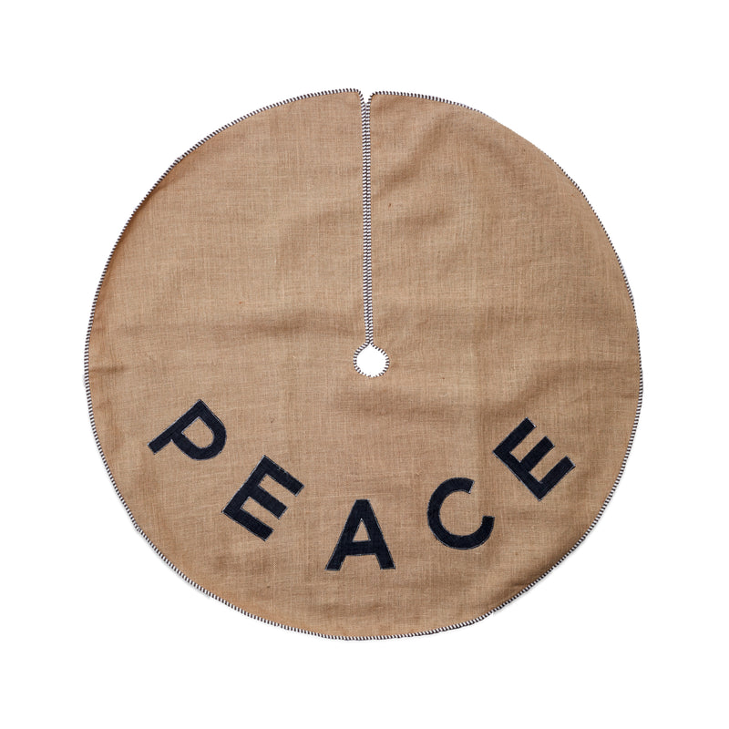 The Peace Jute Tree Skirt