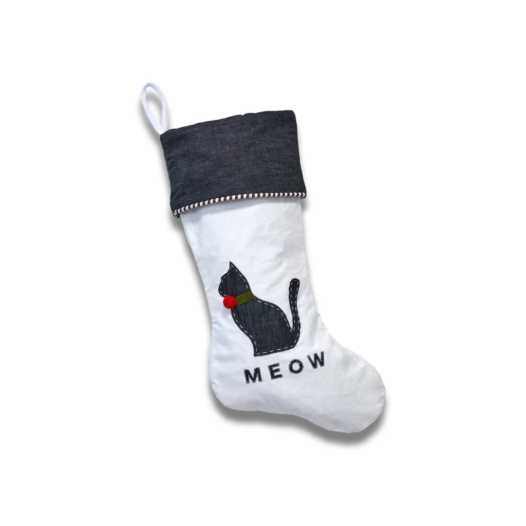 Our 'Meow' Stocking With Christmas Collar
