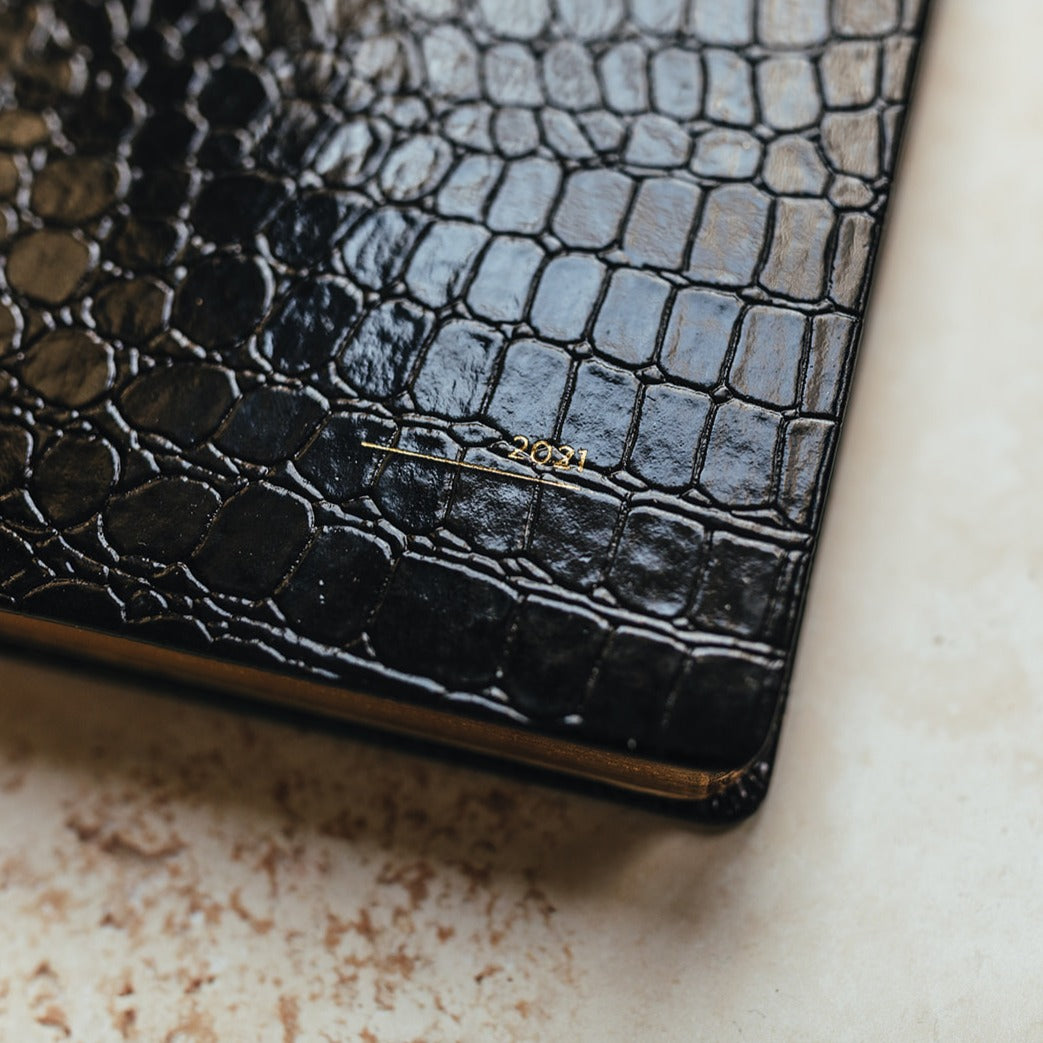 close up cover croc diary