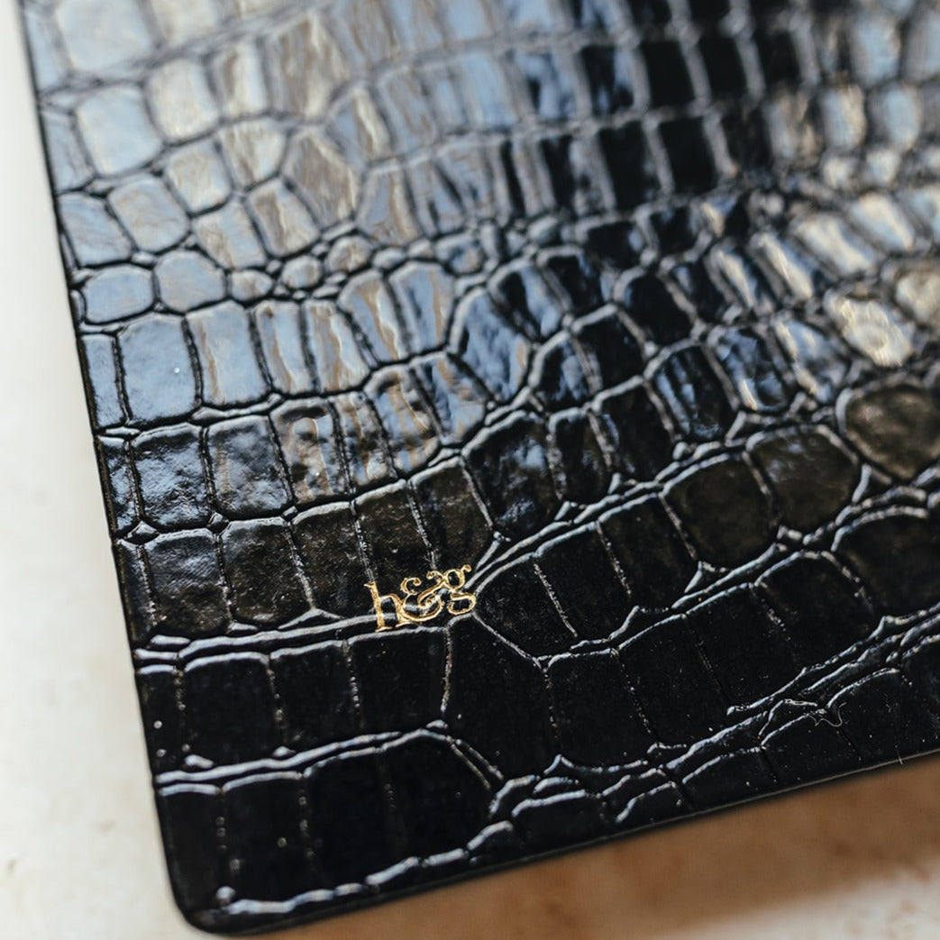 close up back croc diary