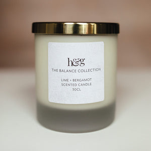 Lime and bergamot candle