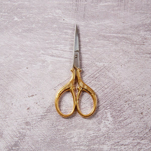 Decorative Floral Gold embroidery scissors