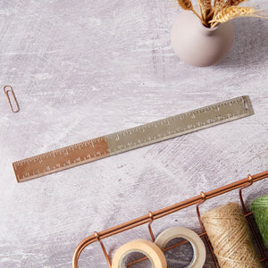Rose Gold two tone 23cm ruler