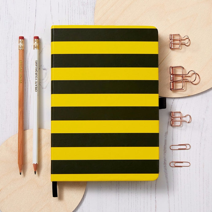 Stripe Notebook - Bumblebee Yellow