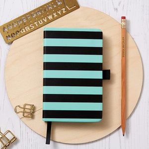 Stripe Notebook - Minty Fresh Green