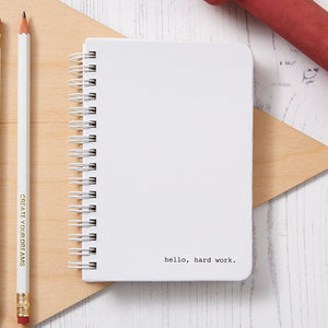 Hardback Gym Workout Fitness Journal - White